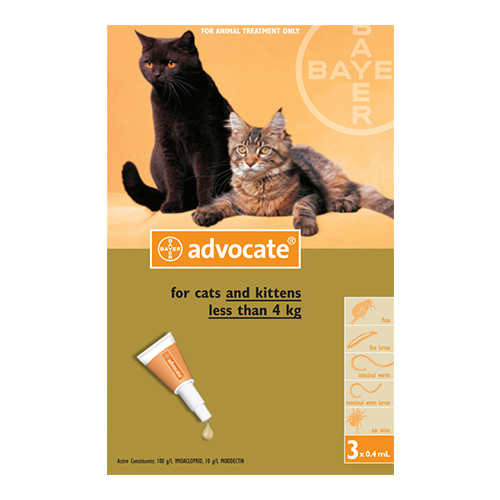 Advocate For Cats Advocate Flea Heartworm Worm Treatment
