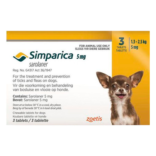 5mg for Puppies 1.3-2.5kg (YELLOW)