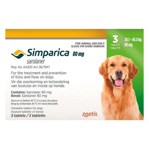 80mg for Large Dogs 20.1-40kg (GREEN)