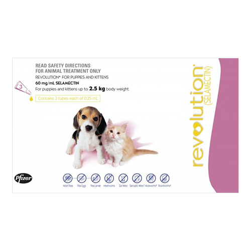 For KITTENS & Puppies 0-2.5KG - Pink (0.25ML)