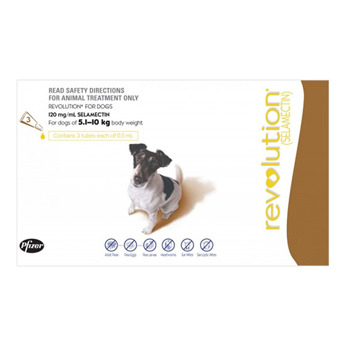 For Medium Dogs 5-10KG - Brown (0.5ML)