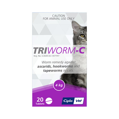 Triworm-C Tablets for Cats