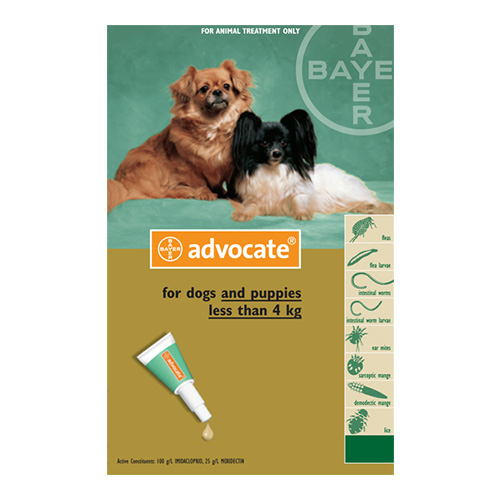 Advocate for Small Dogs upto 4Kg - Green (0.4ML)