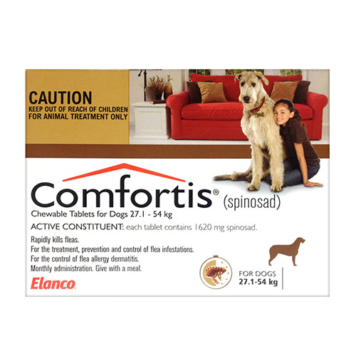 Comfortis For Extra Large Dogs 27.1-54KG (Brown)
