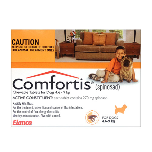 Comfortis For Small Dogs 4.6-9KG (Orange)