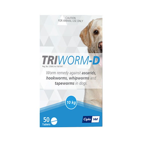 Triworm-D For Dogs 10KG