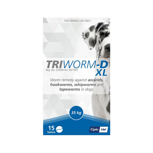 Triworm-D For Dogs XL - 35KG